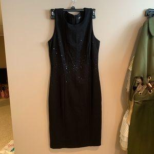 J McLaughlin black sequin dress